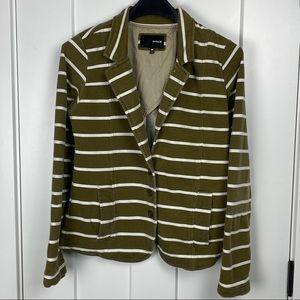 Hurley medium knit striped blazer